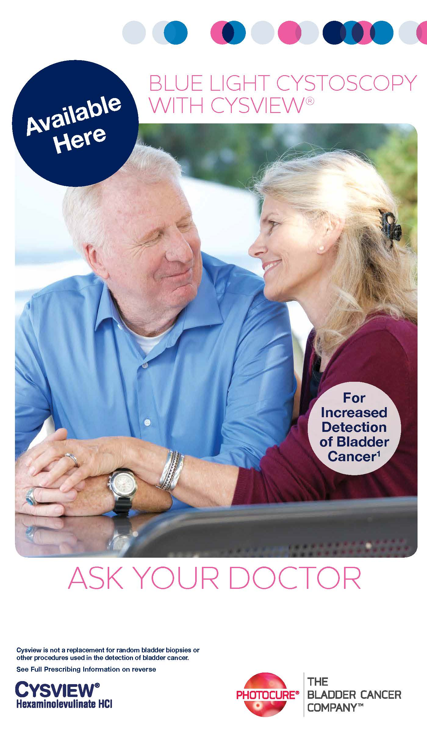 Bladder cancer patients need to know about Blue Light Cystoscopy with Cysview