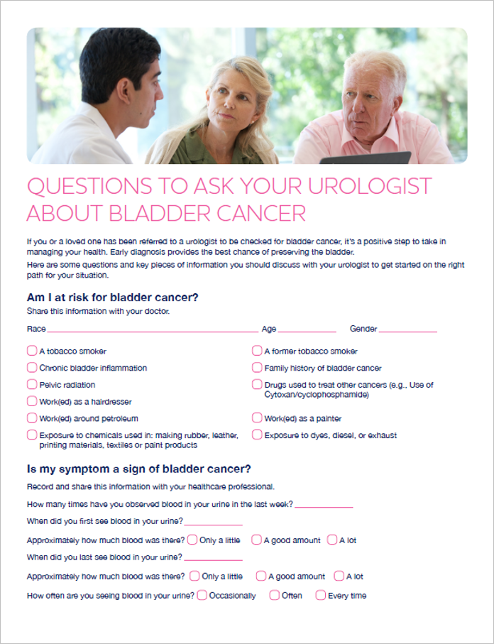 patient questions for doctor about bladder cancer