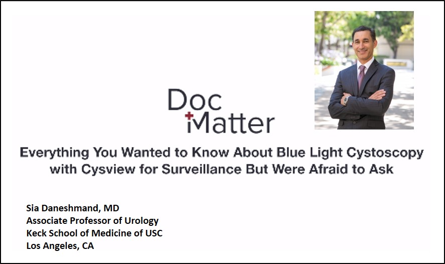 Bladder cancer expert Schuckman discusses Blue Light Cystoscopy with Cysview for bladder cancer diagnosis.